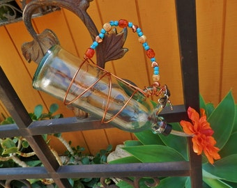 Upcycled Handcrafted Hummingbird Feeder