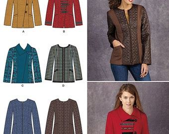 OUT of PRINT Simplicity Pattern 1320 Misses' Jacket with front and Fabric Variations