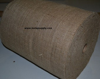 12 inch wide 10 oz Burlap Roll 100 yards -finished edges
