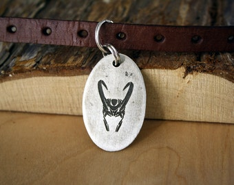 Pet Tags - Pet ID Tag - Dog Tag - Dog Tags - Custom Pet Tag - Custom Dog Tag - Geek Pet - Loki