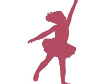 BUY 2, GET 1 FREE - Sweet Little Ballerina Silhouette Filled Machine Embroidery Design in 3 Sizes - 4x4, 5x7, 6x10