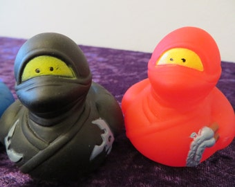 Ninja rubber ducks.- perfect for the karate kid in your family!