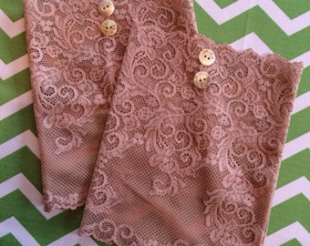 Nude Lace Boot Cuffs