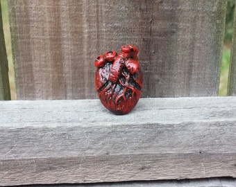 Polymer Clay Anatomical Heart Ring!