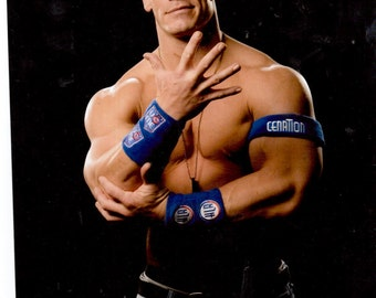 john cena studio wrestling star this is an 8x10 color photo. Black Bedroom Furniture Sets. Home Design Ideas