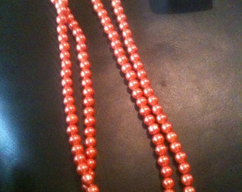 necklace made using glass pearl beads