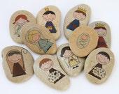NATIVITY SCENE, Story Stones Kit, Story Time, Story Telling, Advent Calendar Filler, Stocking Filler, Nativity Stocking,Teacher Aid