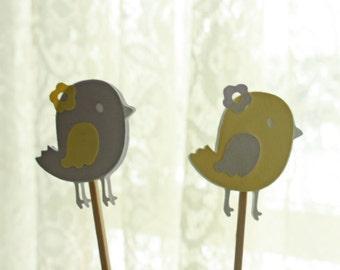 Bird Cupcake Toppers