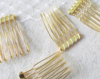 Gold Metal Comb / Fascinator Comb
