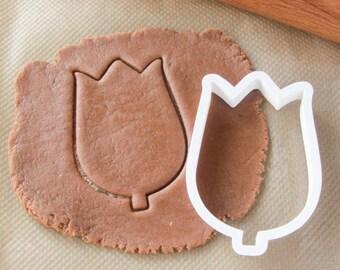 Tulip flower cookie cutter