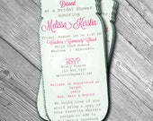 Mason Jar Cut Out Bridal Shower Invitation