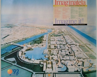 1992 - Expo '92 of Sevilla/The Universal Exposition of Seville - Original Vintage Poster
