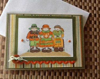 Hand Made Greeting Card:  Thanksgiving Card