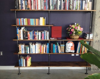 Pipe and Wood Shelf