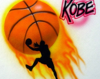 custom airbrush t-shirt basketball airbrushed with any name
