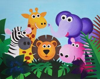 Jungle Poster 30cm x 42cm