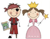 1 Pirate Doll and 1 Princess Doll