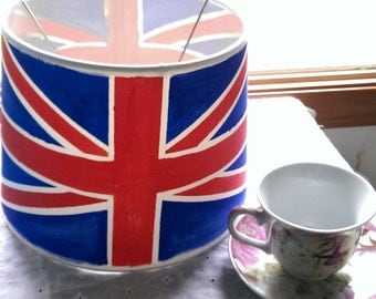 Hand Painted Union Flag Lampshade