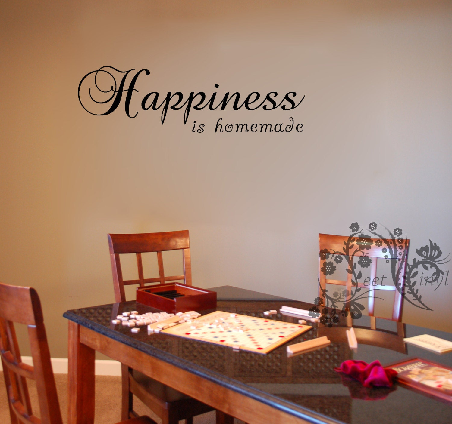 Happiness Is Homemade Wall Decals Wall Vinyl Wall Decor - Vinyl decals for kitchen walls