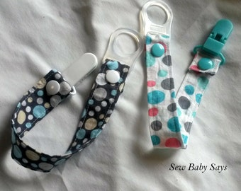 Custom Pacifier Clip-One Fabric Pacifier Clip-Design Your Own