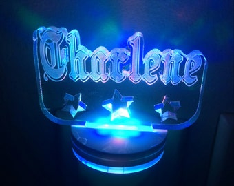 Personalized NAME with STARS multi-color LED Night Light