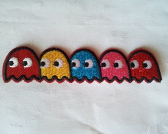 Pacman Video Games applique iron on patch