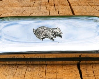 Badger Metal Pen Case & Ball Point Set Personalised Engraved Gift
