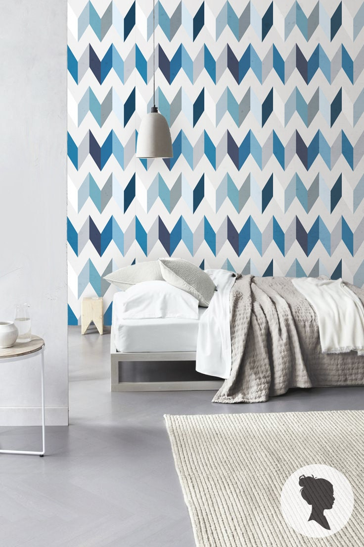 peel and stick chevron pattern removable wallpaper by livettes. Black Bedroom Furniture Sets. Home Design Ideas