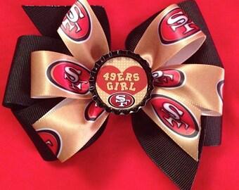 SF 49er Hair Bow
