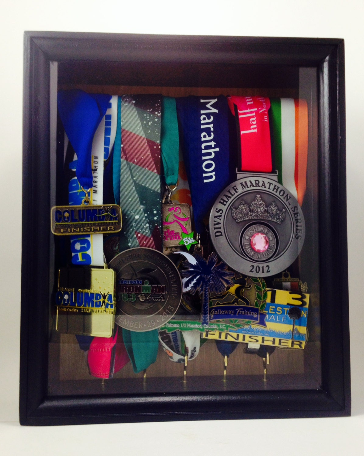 Race Medal Shadow Box Display Shadow Box Race