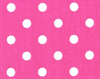 "Premier Prints -Polka Dots- pink-Blue-Black-grey-red-13 colors--54"" wide-Fabric By The Yard decorator fabric FAST SHIPPING"