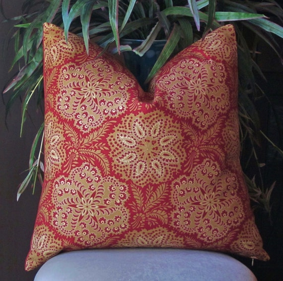 Ralph Lauren Throw Pillow Covers : Ralph Lauren Red Decorative Pillow Cover Country by SewWhatAlley