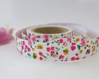 Floral Fabric Tape / Adhesive Decoration Fabric Tape  FT008