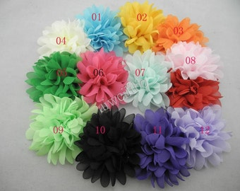 5 pcs 3.9'' inch Chiffon Flower - DIY Headband Accessories- Fabric Flower -Flower Accessory