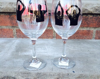 ohio state wine glass set - made to order
