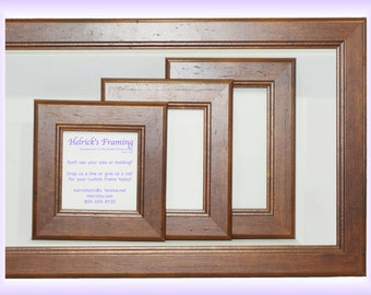 walnut picture frames from 4x4 20x30 or larger custom sizes for art photography