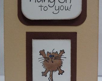 Handmade Anniversary Card with Kitty