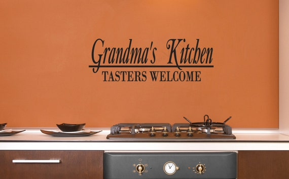 Kitchen Decor | Family Wall Decal | Kitchen Vinyl Sticker | Grandma's Kitchen Wall Decal | Vinyl Decal