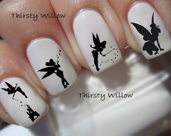40 Tinker Bell Silhouette Nail Decals