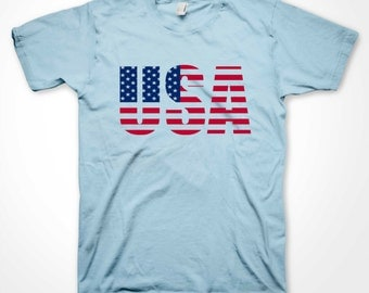 USA T-shirt America Team USA Flag Independence Day July 4th US Patriot Shirts Many Colors S-3XL