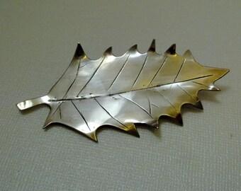 Holly Leaf - Silver Brooch