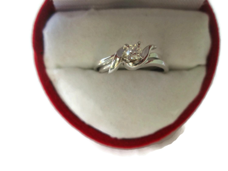 interlocking engagement ring wedding ring by