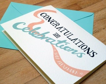 Personalised 'Congratulations and Celebrations' greetings card