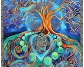 Visionary Art Blanket ~ Metamorphosis ~ Art by Spiral Canvas