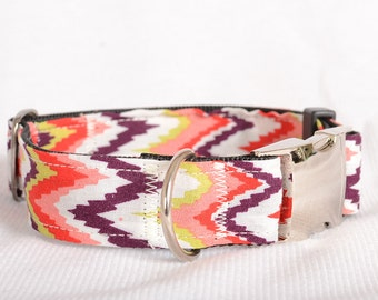 Dog Collar with Personalized Buckle,Bohemia,Fabric 202