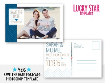 Customizable digital wedding save the date postcard modern for Electronic save the date templates
