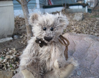 OOAK Mohair Bear with leather foot pads