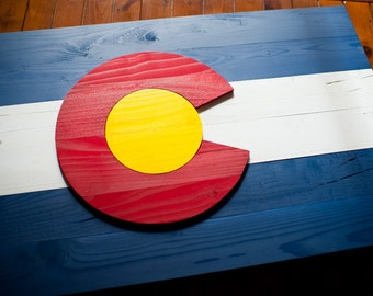 Colorado Wood Flag, Colorado Wooden Flag, Colorado flag, 3D, Wooden flag, wood flag, vintage, wall art, USA, Colorado, flag, home decor