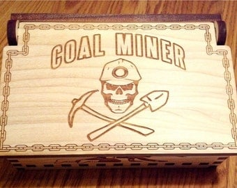 Coal Miner Wood Box