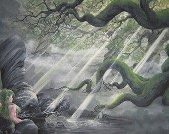 mysterious fantasy mermaid painting